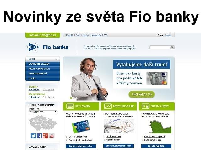 Novinky ze světa Fio banky